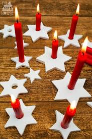 diy clay star candle holders scandinavian christmas decorations