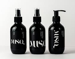 black label hair products product packaging design label design black squid graphic design