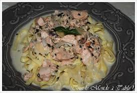cuisiner saumon congelé tagliatelles au saumon tout le monde à table