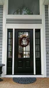 Fiberglass Exterior Doors With Glass Model 440 Signet Fiberglass Front Entry Door Coal Black With Aged