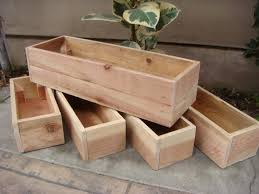 custom size wood planter any size table centerpiece flower box