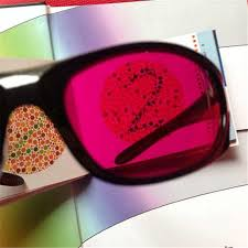 Red Green Blind Zxtree 1pc New Color Blindness Glasses Correction Women Men