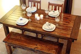 Build A End Table Plans by How To Build A Wood Diy Dining Table