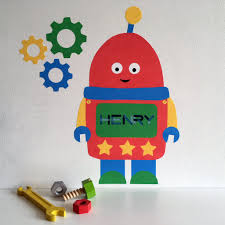space and robots chameleon wall art robot wall sticker robot decal personalised wall stickers wall stickers for kids