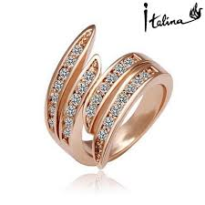 aliexpress buy brand tracyswing rings for women brand tracyswing genuine austria 18krgp gold color rings for