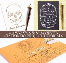 Printable Halloween Stationary 3 Artistic Diy Halloween Stationery Project Tutorials The