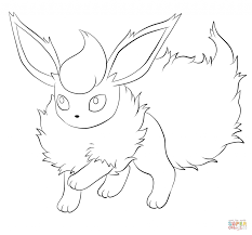 pokemon flareon coloring pages cartoon best photos of pokemon