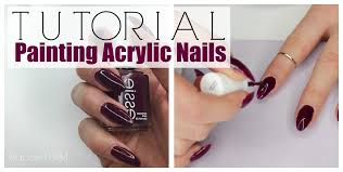 nails how to paint acrylic nails youtube