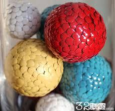 easy to make thumbtack craft balls 32 turns32 turns