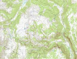 Colorado Elevation Map by Blue Lake Loop South San Juan Wilderness Colorado Free Topo
