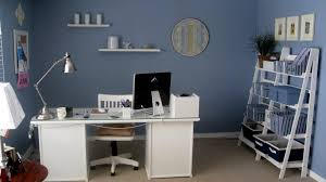 Decor Office by Home Office Decorating Ideas Furniture With Cool Blue Wall