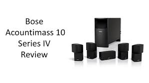 home theater speaker system bose acoutimass 10 series iv home theater speaker system review