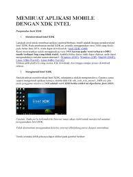 membuat aplikasi android dengan intel xdk membuat aplikasi mobile dengan xdk