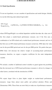 ifrs and the use of accounting based performance measures in