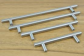 Handles For Kitchen Cabinets Furniture Hardware Modern Solid Stainless Steel Kitchen Cabinet