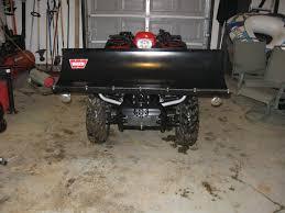 what size of snow plow honda foreman forums rubicon rincon