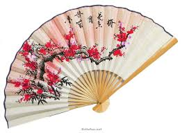japanese fans japanese style fan cherry blossoms fans