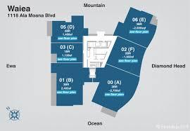 Infinity Condo Floor Plans Waiea Condos For Sale Ultra Luxury Honolulu Condo