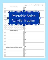 Free Excel Sales Tracking Template Salesperson Daily Activity Log Calendar