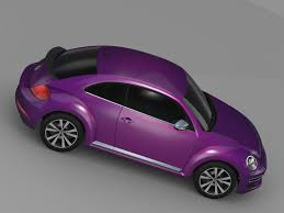 used pink volkswagen beetle vw beetle pink edition concept 2015 3d cgtrader