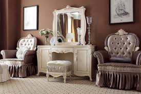 Bedroom Mirrored Furniture Bedroom Furniture Shabby Chic White Wooden Mirror Vanity Make Up