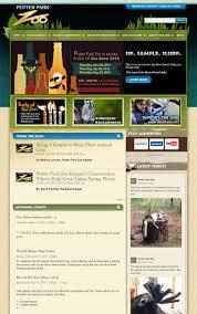 Potter Park Zoo Lights by 100 Zoo Websites For Web Design Inspiration