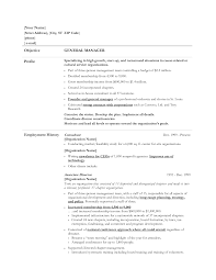 Sample Resume For Manager by General Manager Resume Example Http Www Resumecareer Info