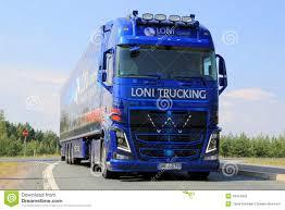volvo trucks germany volvo show truck of loni gmbh in lempaala finland editorial photo
