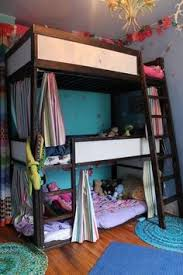 Ikea Child Bunk Bed A Sprightly Shared Bedroom For Three Maximize Space Sleepover