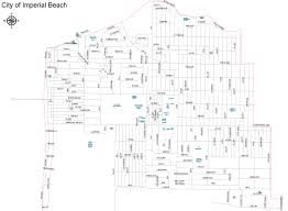 San Diego Zoning Map by City Map City Of Imperial Beach