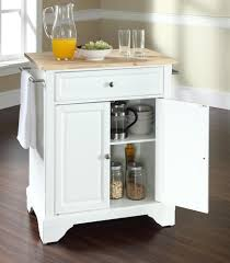 crosley kitchen islands buy alexandria natural wood top kitchen island w round bun feet