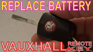 how to replace a battery in a vauxhall key fob youtube