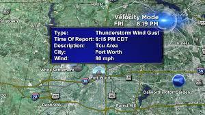 Tcu Map Winds Lightning Flash Floods Hail Cbs Dallas Fort Worth