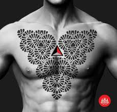 tattoo chest triangle triangle and chest blackwork tattoo by 2vision estudio best tattoo