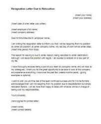 sample resignation letter moving abroad professional resumes