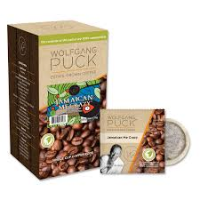 wolfgang puck flavored coffee pods jamaica me 18ct box
