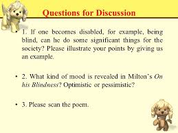On His Blindness John Milton Meaning John Milton Key Points And Difficulties 重点和难点
