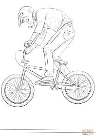 bmx biker coloring page free printable coloring pages