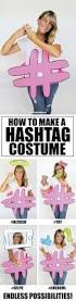 learn how to make a hashtag costume for halloween simple costume