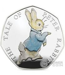 rabbit by beatrix potter rabbit beatrix potter silver coin united kingdom 2017