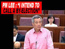 "PM Lee: ""I intend to call a by-election"" - inSing."
