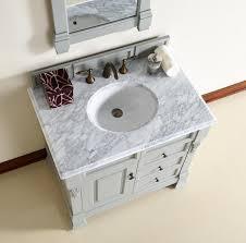 Bathroom Vanities 36 Inches Wide Abstron 36 Inch Grey Finish Single Sink Traditional Bathroom