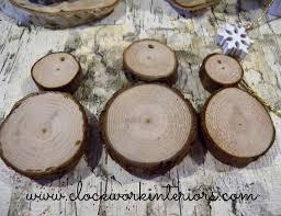 kid friendly wood slice snowman ornaments clockwork interiors