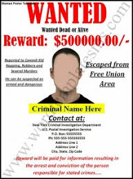 wanted poster template word excel formats