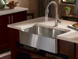 brushed nickel faucet with stainless steel sink a selection stainless steel sinks and modern kitchen faucets for a