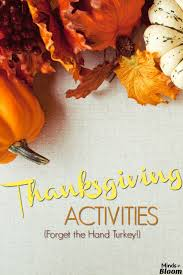 a paragraph about thanksgiving thanksgiving activities minds in bloom