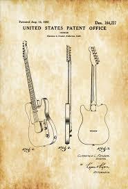 fender telecaster guitar patent 1951 patent print wall decor