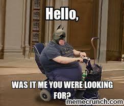 Merica Wheelchair Meme - chair fat batman