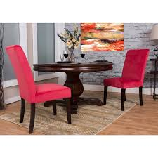Microsuede Dining Chairs Somette Cranberry Microfiber Dining Chair Set Set Of 2 Free