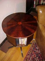 Revolving Bookcases Classic Mahogany Revolving Bookcase With Marquetry Inlay Star